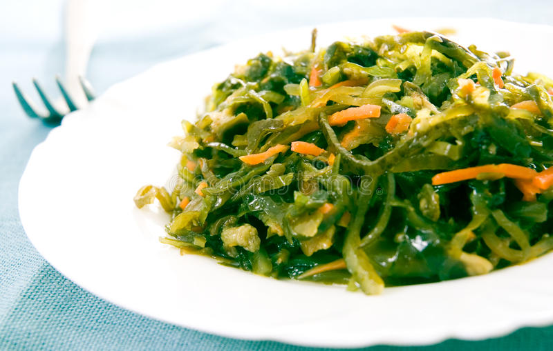 Fresh seaweed salad royalty free stock images