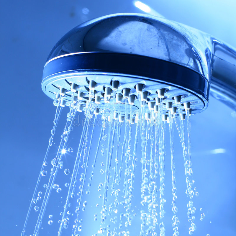 Fresh shower royalty free stock image
