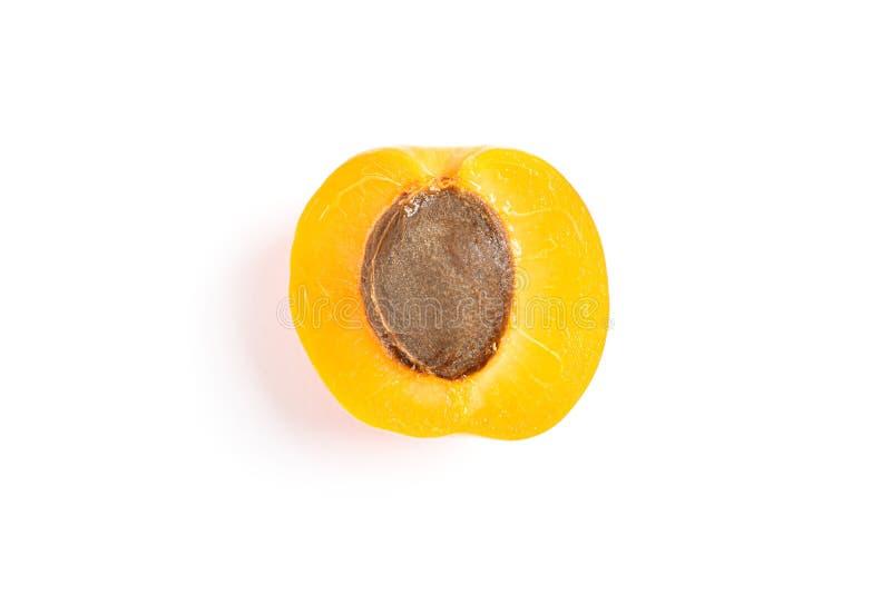 Fresh single apricot isolated on white background royalty free stock image