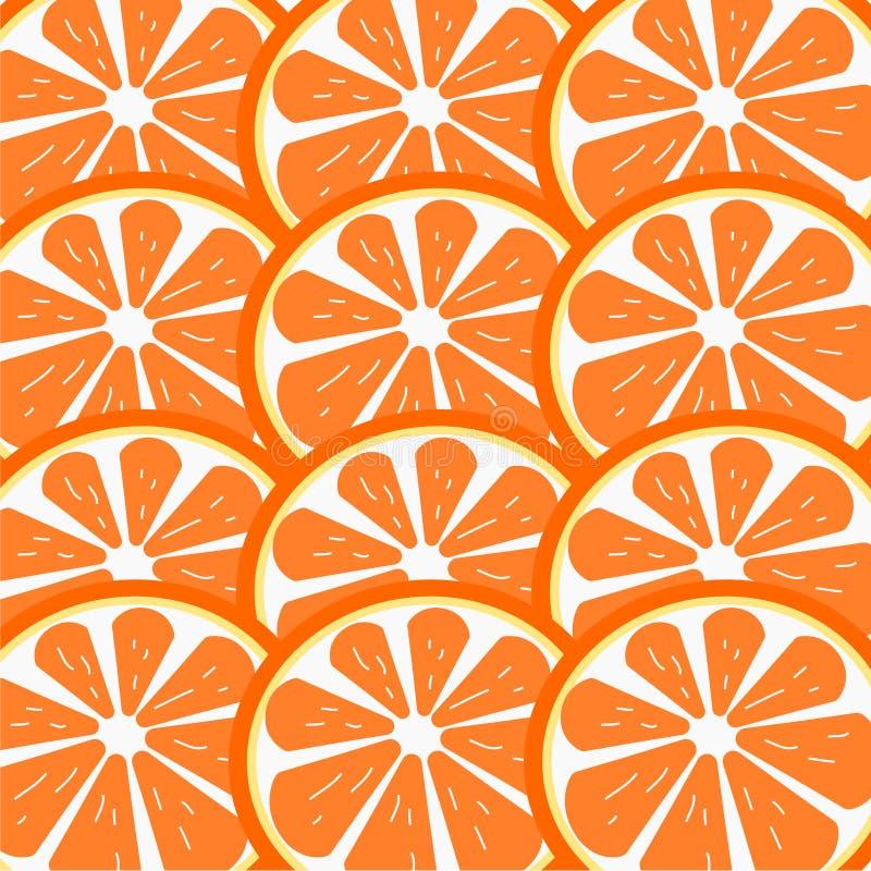 Fresh Slice orange on background .Illustration. royalty free illustration