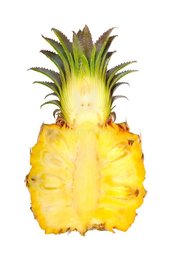 Fresh slice pineapple. Isolated on white background stock images