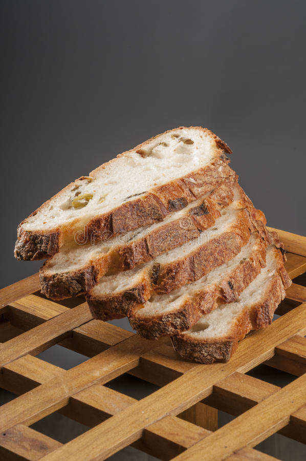 Fresh sliced bread close up. stock image