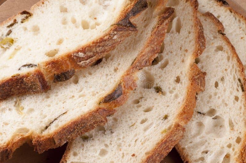 Fresh sliced bread close up. royalty free stock photos