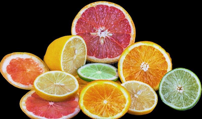 Fresh sliced citrus fruit royalty free stock photo
