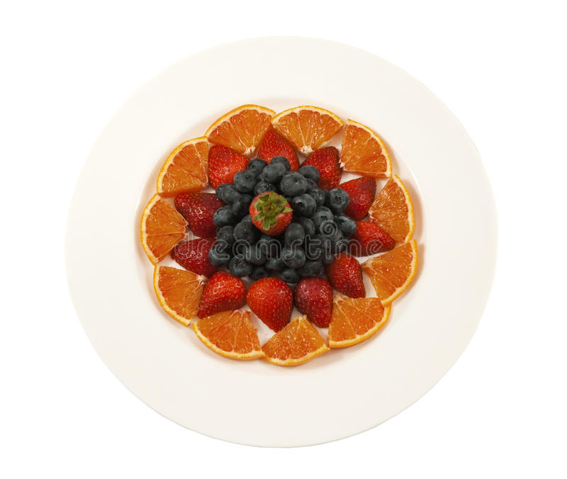 Plate With Fresh Fruit Stock Image