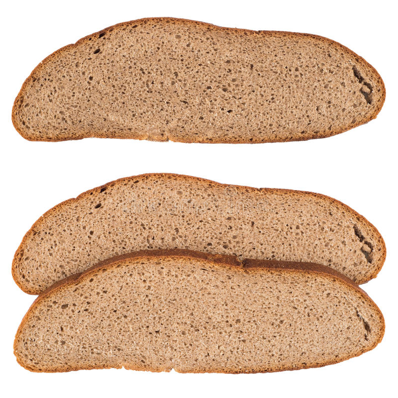 Fresh sliced rye bread isolated on white background cutout. royalty free stock photos