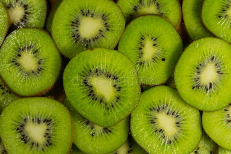 Fresh slices of kiwi fruit. For background royalty free stock image