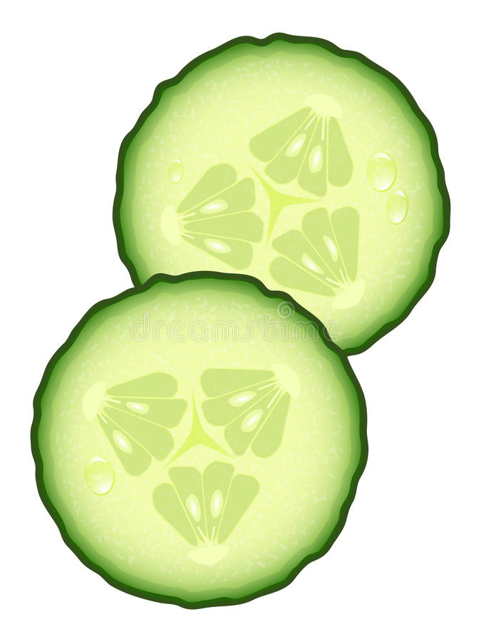 Free Fresh Slices Of Cucumber Stock Image - 20956101