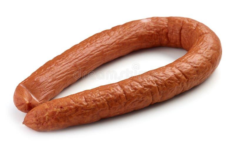 Fresh smoked sausage royalty free stock photography