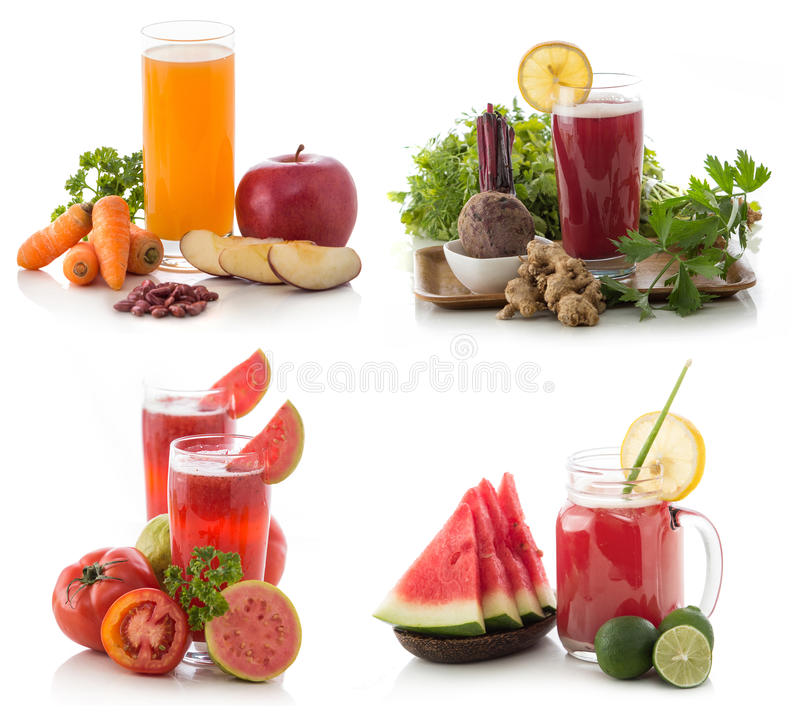 Fresh Smoothie compilation. Fresh mix smoothie compilation of some fruits isolated over white background royalty free stock image