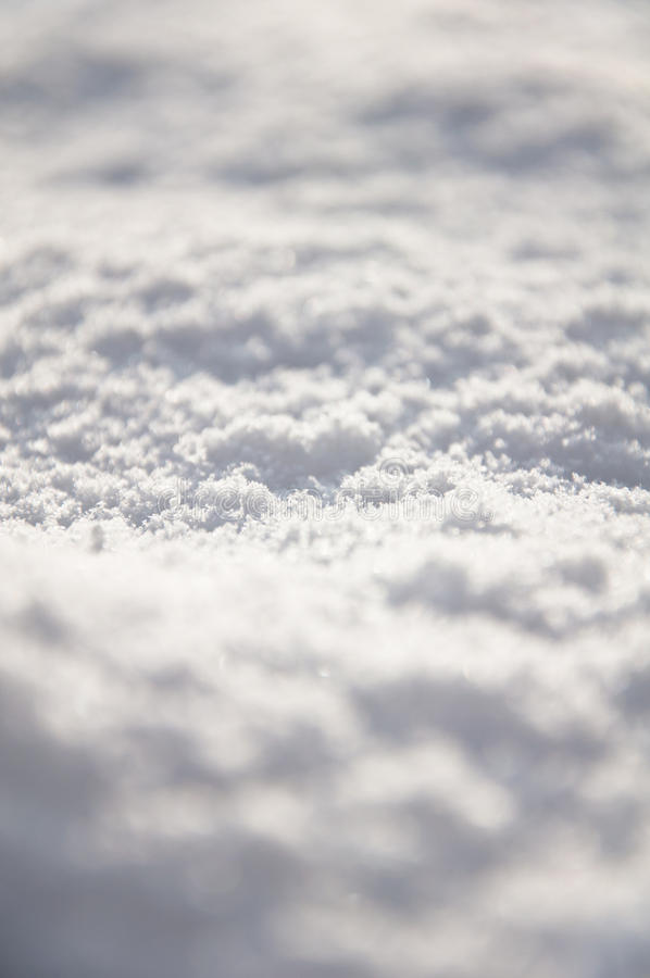 Fresh snow on the ground stock photography
