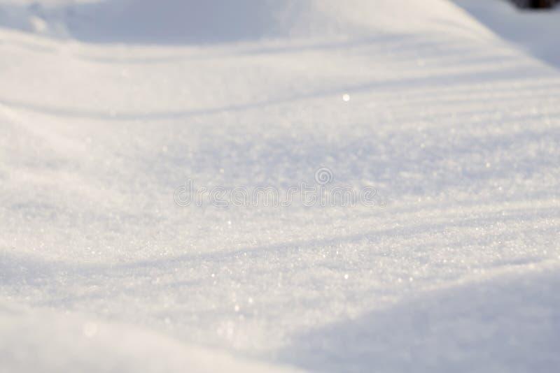 Fresh Snow Macro royalty free stock photos