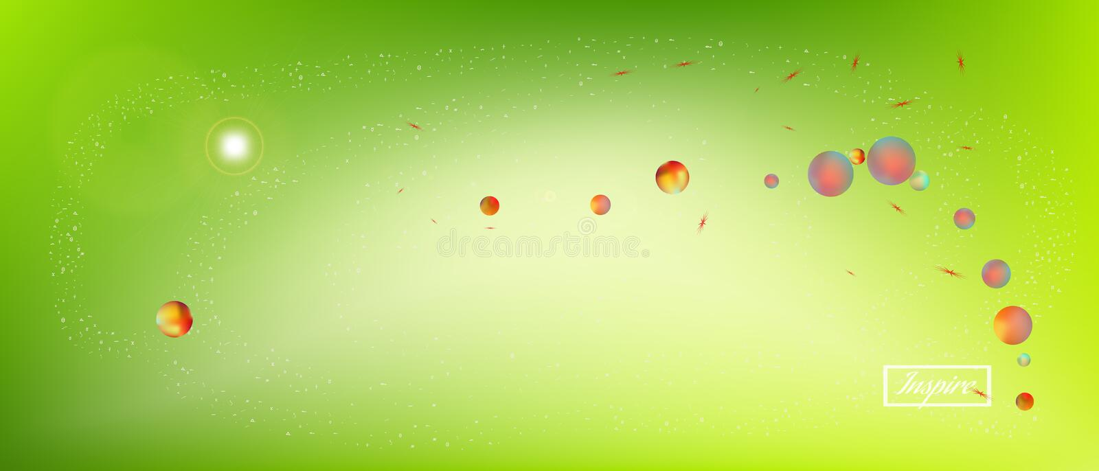 Funny abstract ultra wide space background stock illustration