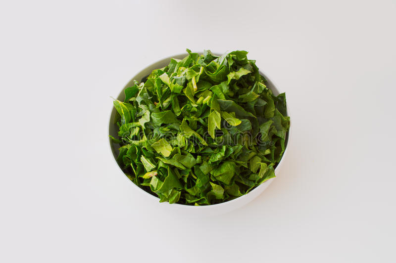 Fresh spinach isolated on white. Background stock photography