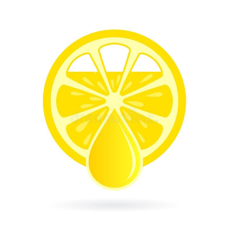 Fresh squeezed lemon juice vector icon vector illustration