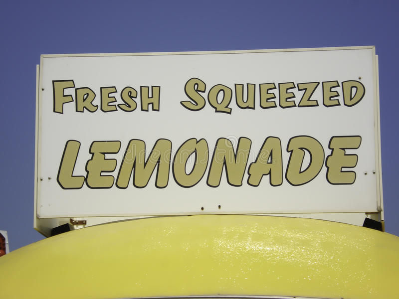Fresh Squeezed Lemonade Sign stock photos