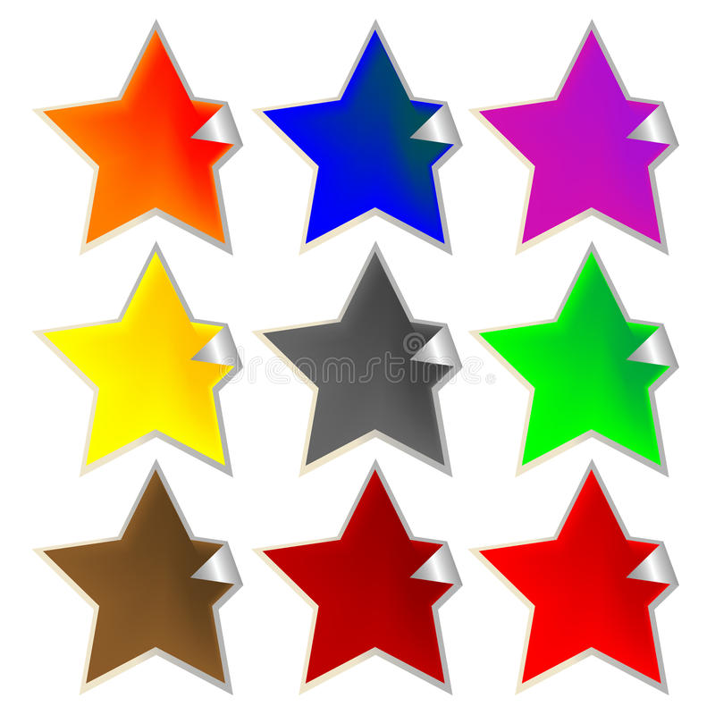 Download Fresh Star-shaped Labels Royalty Free Stock Images - Image: 12760339