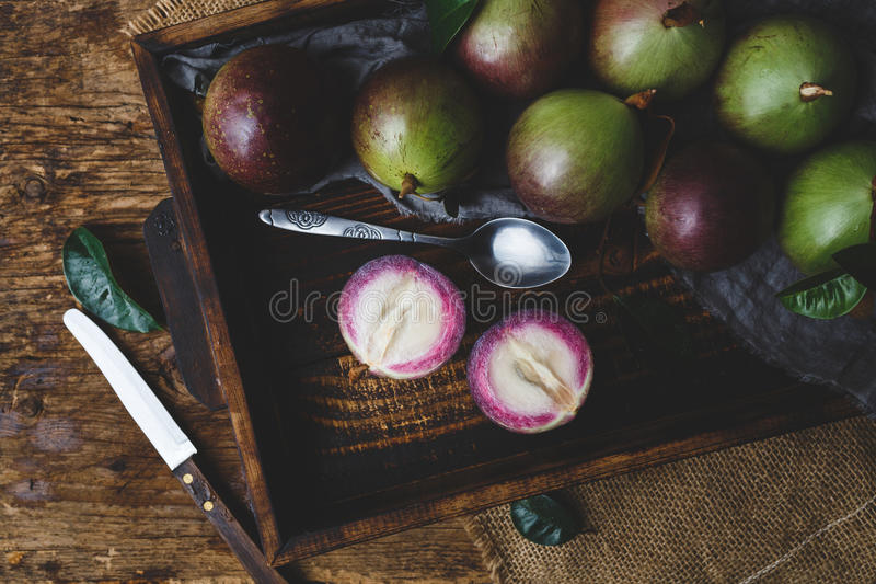 Download Fresh Starapples stock photo. Image of food, asia, cutting - 83701390