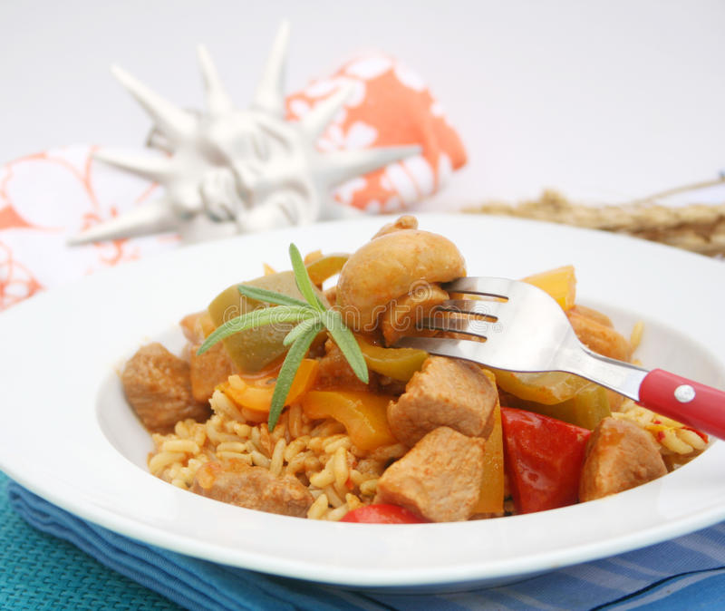 Download Fresh Stew Of Meat And Mushrooms Stock Photo - Image of lunch, dinner: 32127804