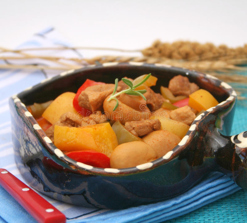Download Fresh Stew Of Meat And Mushrooms Royalty Free Stock Photography - Image: 32127807