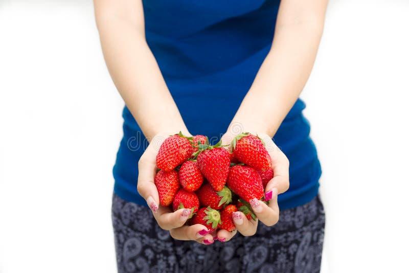 Fresh strawberries closeup stock photo