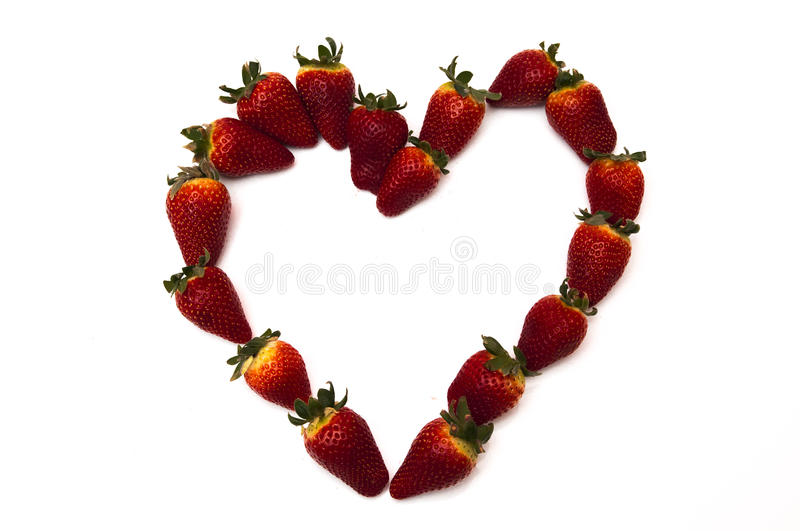 Download Fresh Strawberries In Heart Shape Stock Photo - Image of fruit, seed: 39503536