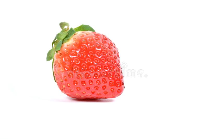 Strawberries, ripe juicy strawberry isolated on white. Fresh and Juicy berry royalty free stock photo