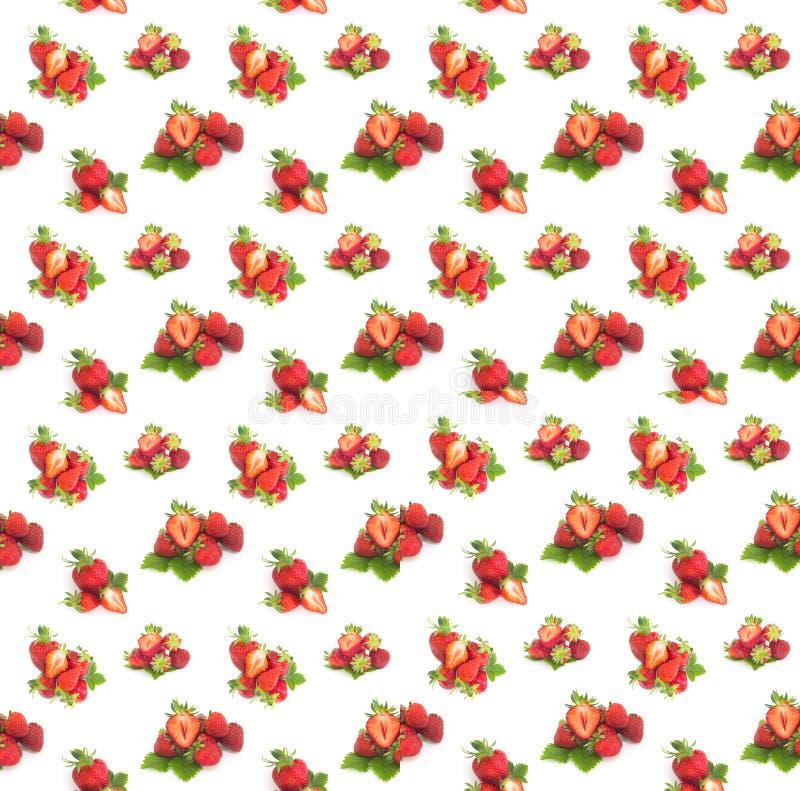 Fresh strawberries seamless background stock photo