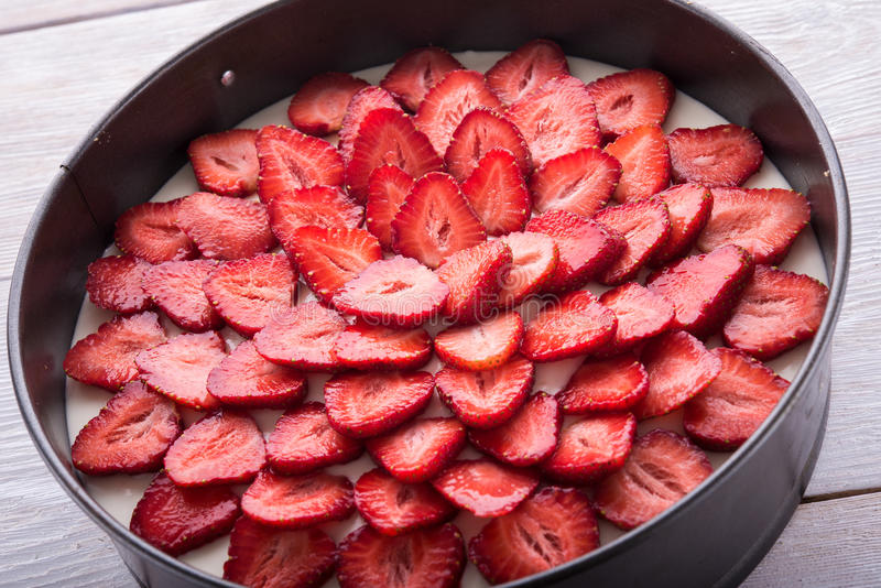 Fresh strawberry fruits stock photography