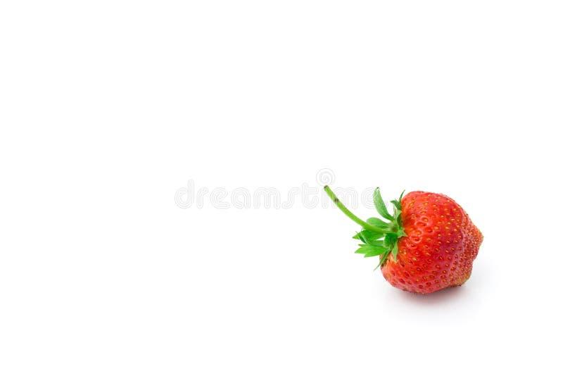 Fresh strawberry isolated on white background. stock photo