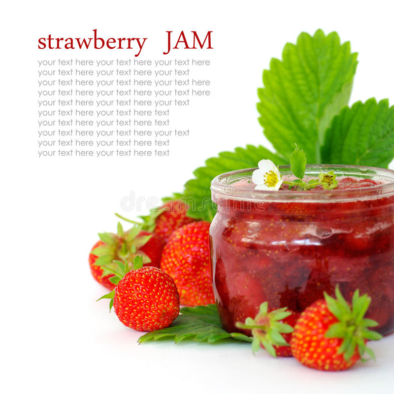 Download Fresh strawberry jam stock image. Image of kitchen, recipe - 26075773
