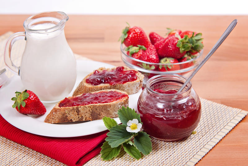Fresh Strawberry Jam stock photos