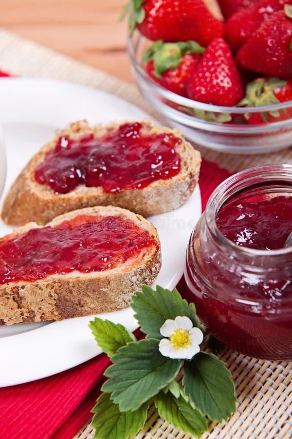 Fresh Strawberry Jam royalty free stock image