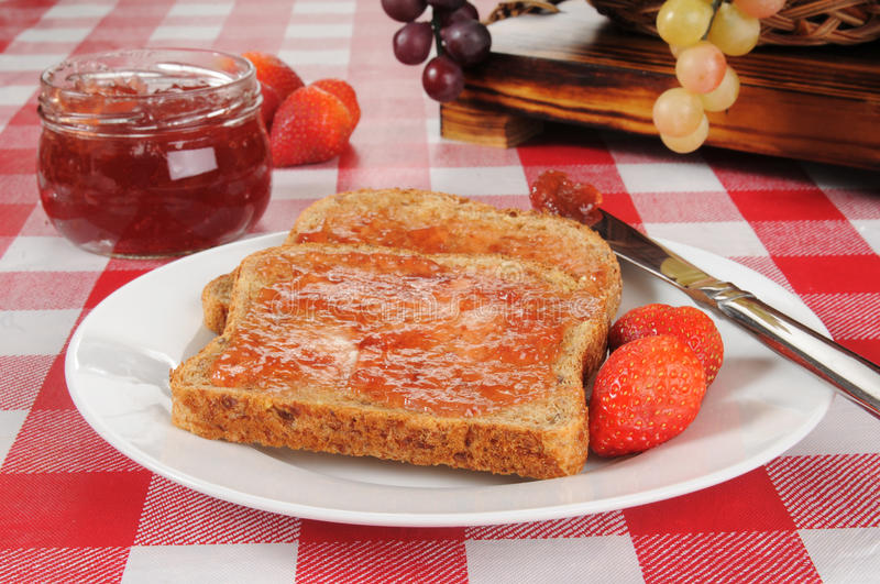 Download Strawberry Jam On Sprouted Wheat Toast Stock Photo - Image: 29740892
