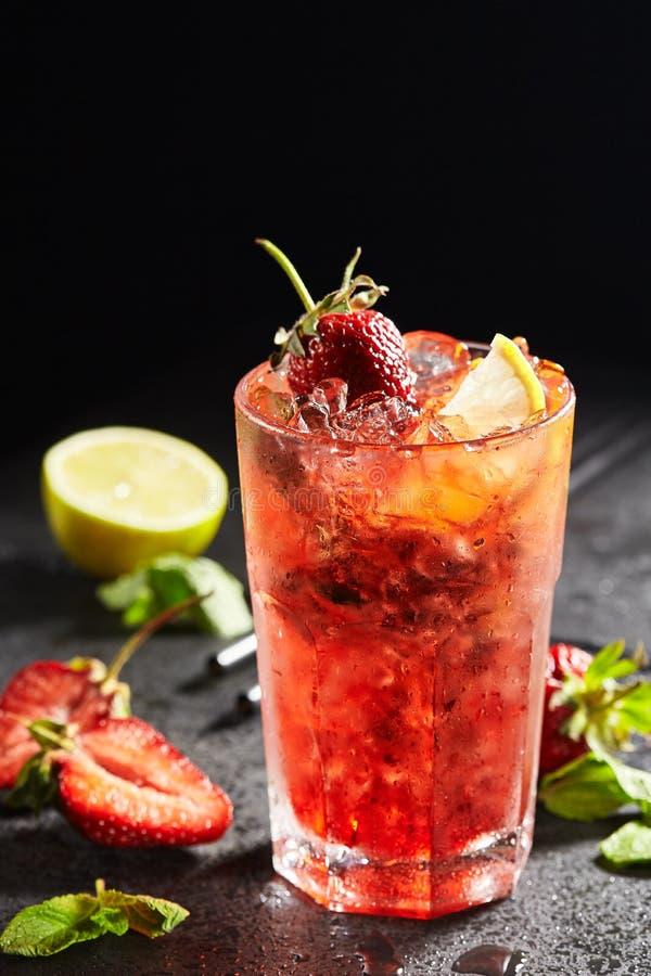 Download Fresh Strawberry Mojito stock image. Image of beverage - 104222143
