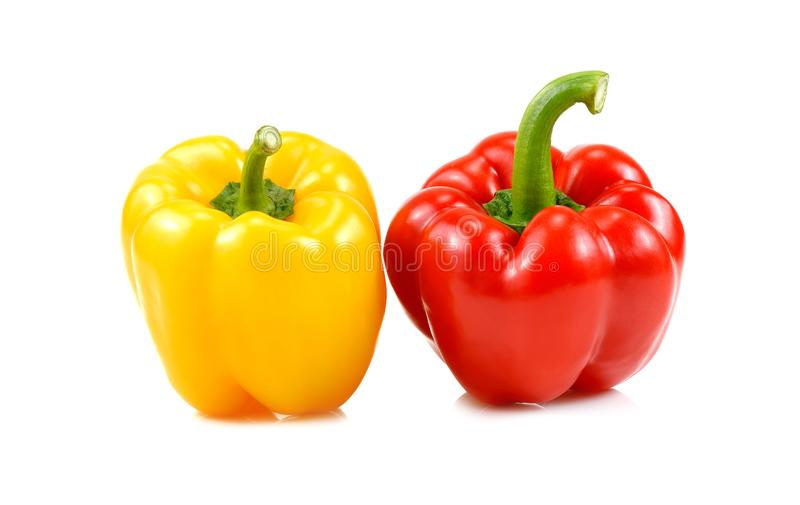 Fresh sweet pepper on white background.  royalty free stock images