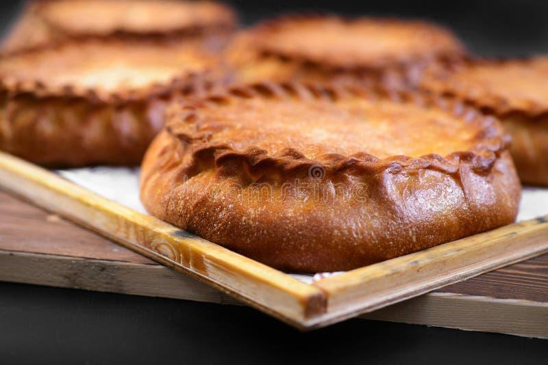 Fresh sweet pies stock photo