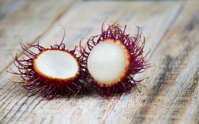 Fresh sweet rambutan stock images