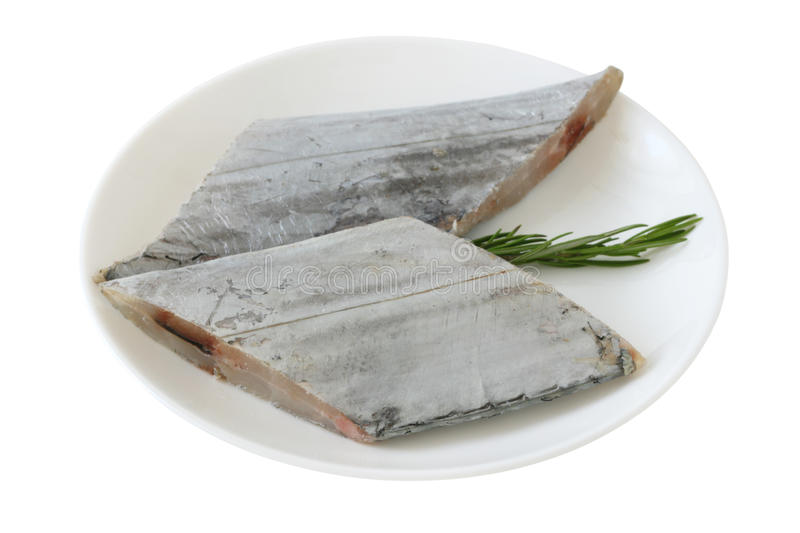 Fresh swordfish with rosemary stock image
