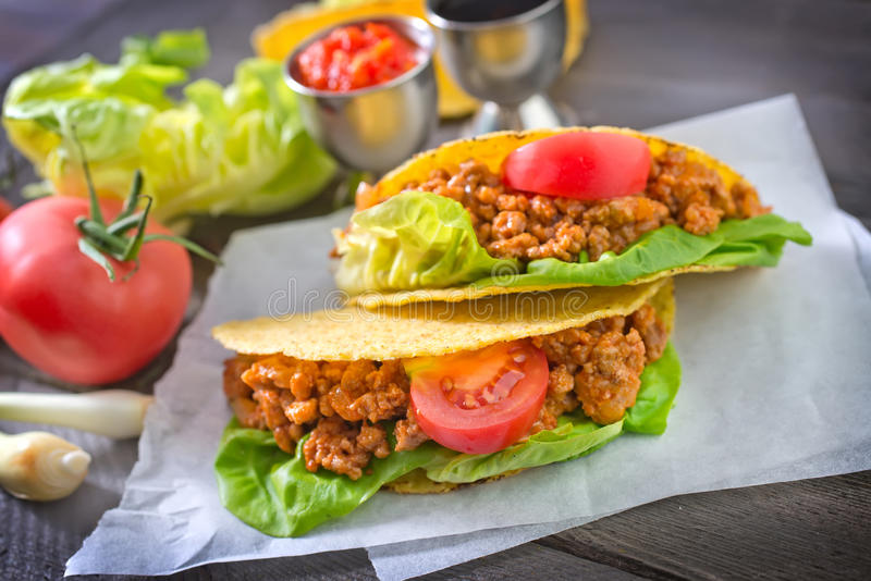 Fresh tacos royalty free stock image