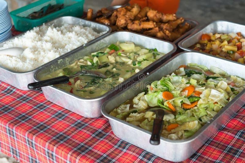 Fresh take away asian food stock photos