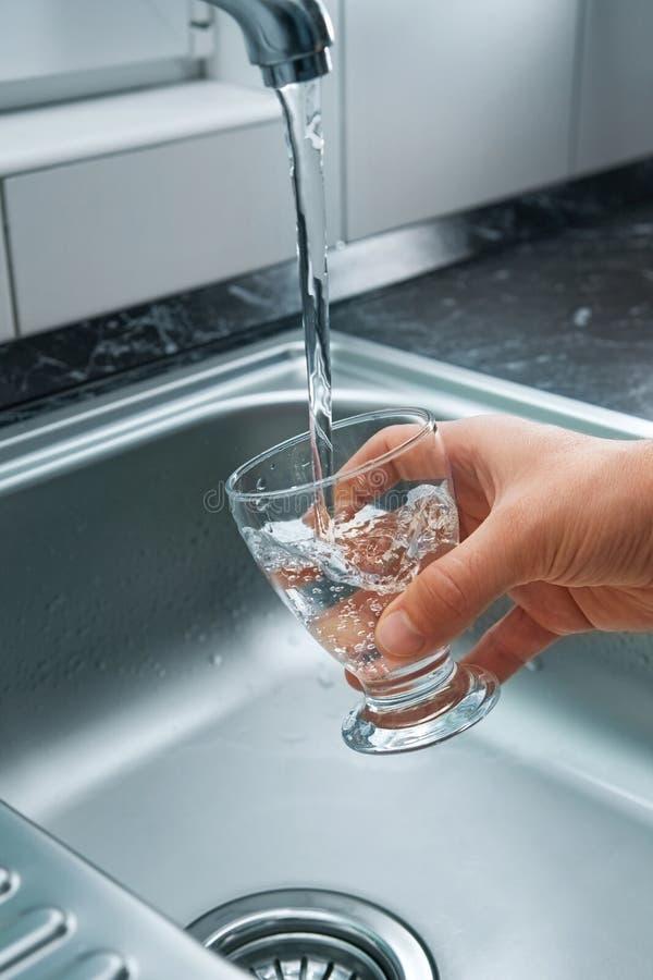 Fresh tap water stock photos