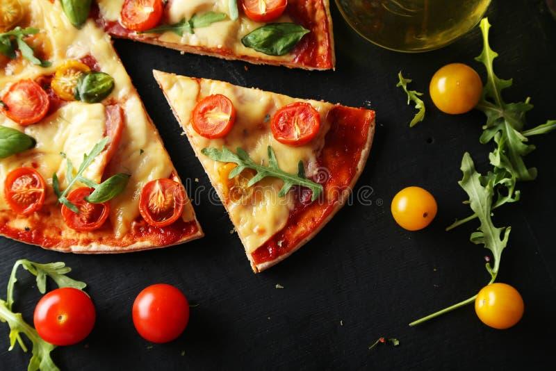Fresh tasty pizza stock photos