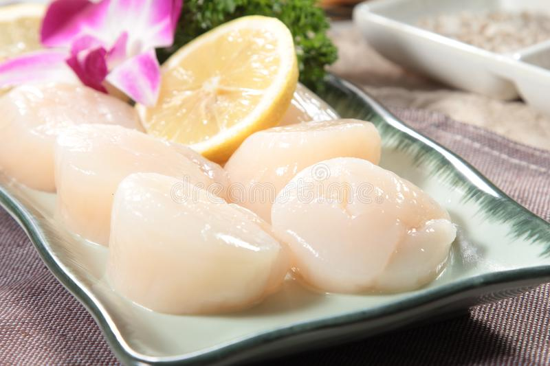Fresh and tasty seafood cuisine stock image