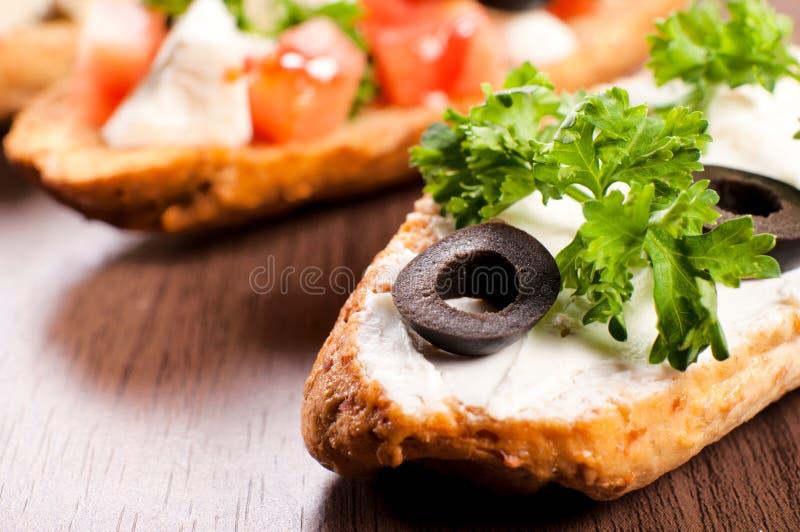 Vegetarian sandwich royalty free stock photography