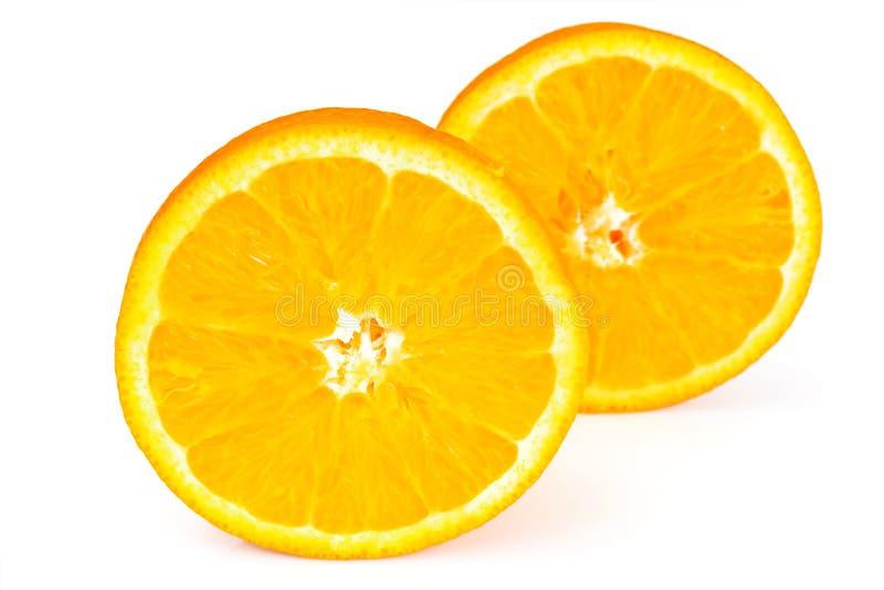 Fresh Tasty Vitamin Orange Isolated on White. Studio Photo royalty free stock photo