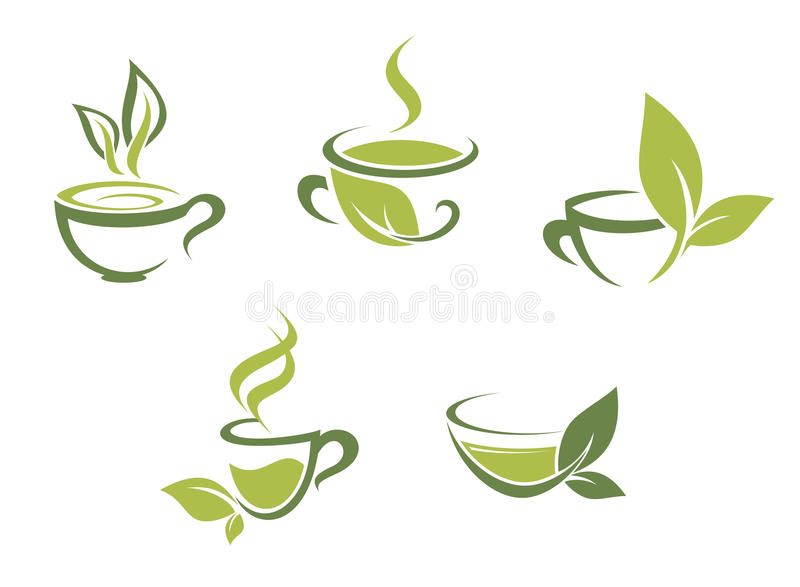 Download Fresh tea and green leaves stock vector. Image of morning - 27498616