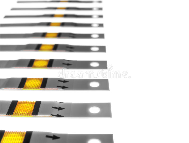 Fresh test strips royalty free stock photography