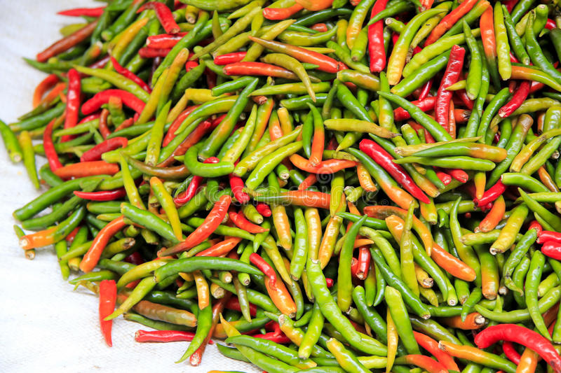 Download Fresh Thai Chilli Peppers Bangkok Market Royalty Free Stock Images - Image: 20775389