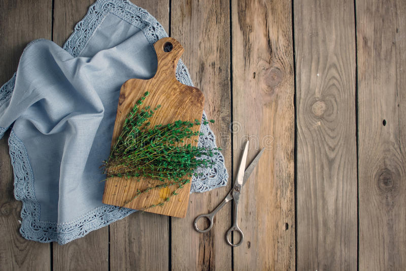 Fresh thyme herb royalty free stock photo